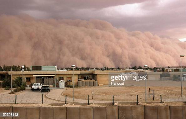 In this picture released by the US Marine Corps a dust storm similar to special effects on the big screen bellowed across the western desert of Iraq...
