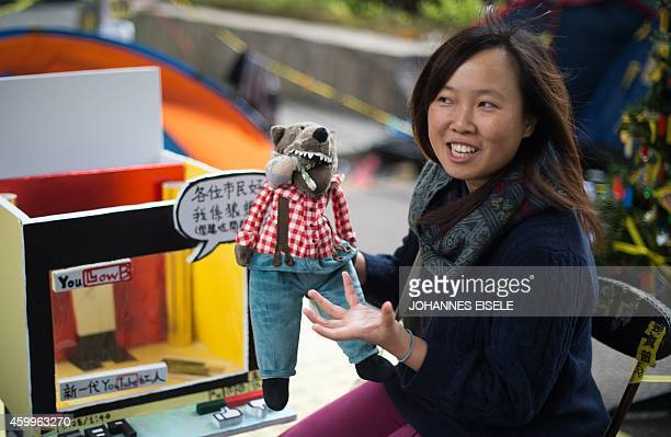 STORY 'HONG KONGCHINAPROTESTSDEMOCRACYLANGUAGE' FEATURE BY EMILY FORD In this picture taken on December 4 artist Helen Fan one of the founders of an...