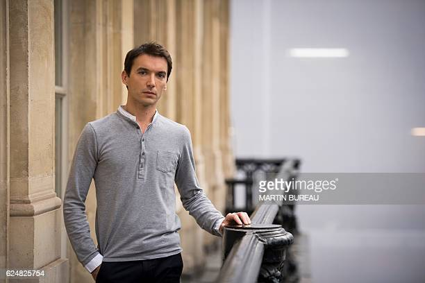 In this picture taken on November 21 2016 French actor Clement HervieuLeger poses for portraits at La Comedie Francaise theatre in Paris / AFP /...