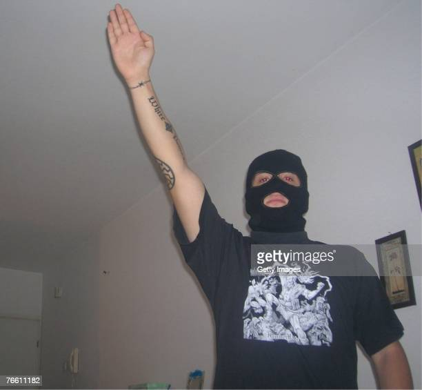 In this recent undated handout photo provided by the Israeli Police on September 9 a RussianIsraeli member of a neoNazi cell who was arrested by...