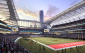 In this rendering released by AEG the proposed football stadium to house a NFL team in Los Angeles California is seen It was announced February 1...