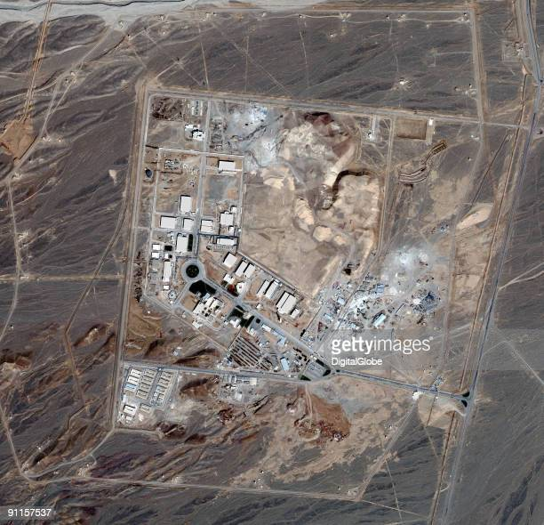 In this satellite image collected on February 28 a uranium enrichment plant spreads over the land of Natanz in Iran According to reports uranium...
