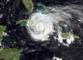 In this satellite image provided by the National Oceanic and Atmospheric Administration Hurricane Ike is seen moving across the eastern part of Cuba...