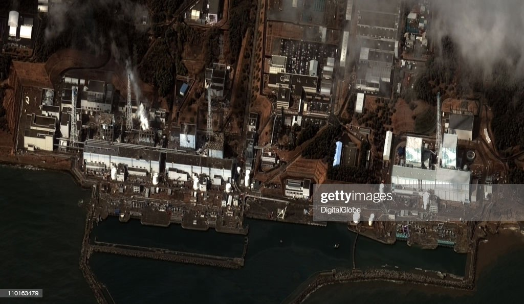 In this satellite view, the damaged Fukushima Dai-ichi Nuclear Power plant is seen after a massive earthquake and subsequent tsunami, on March 16, 2011 in Futaba, Japan. After a third explosion on Tuesday at the Fukushima Daiichi nuclear power plant, the government is telling people living within 20 miles to stay indoors with the windows closed because of the possibility of high levels of radiation being released from the plant. The quake struck offshore at 2:46pm local time, triggering a tsunami wave of up to 10 metres which engulfed large parts of north-eastern Japan on March 11. The death toll as of Monday morning had reached 2,800, with fears that the official death count could well reach up to 10,000 in ''the most tragic event in Japanese history since World War Two''.