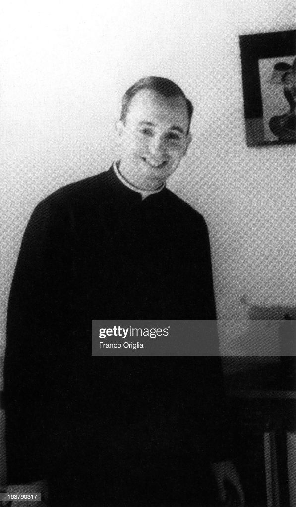 UNDATED - In this undated collect photograph courtesy of the Jesuit General Curia in Rome, the Jesuit priest Jorge Mario Bergoglio poses. The Argentinian Jorge Mario Bergoglio, ordained for the Jesuits on 1969 at the Theological faculty of San Miguel was elected as <a gi-track='captionPersonalityLinkClicked' href=/galleries/search?phrase=Pope+Francis&family=editorial&specificpeople=2499404 ng-click='$event.stopPropagation()'>Pope Francis</a> on March 13, 2013 as the first ever Jesuit pontiff. The Society of Jesus, founded in 1540 by the Spanish Ignatius of Loyola's, is a Christian male religious order of the Roman Catholic Church. The society is engaged in evangelization and apostolic ministry in 112 nations and on six continents. Jesuits operate in education (founding schools, colleges, universities and seminaries), intellectual research and cultural pursuits.