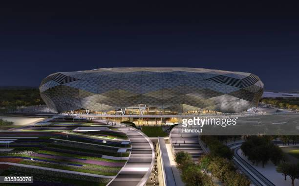 In this undated computergenerated artists impression provided by 2022 Supreme Committee for Delivery and Legacy the Qatar Foundation Stadium Stadium...