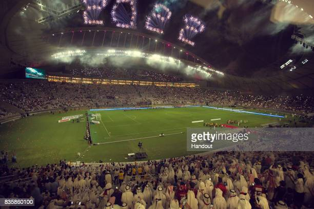 In this undated computergenerated artists impression provided by 2022 Supreme Committee for Delivery and Legacy the Khalifa Stadium a Qatar 2022...