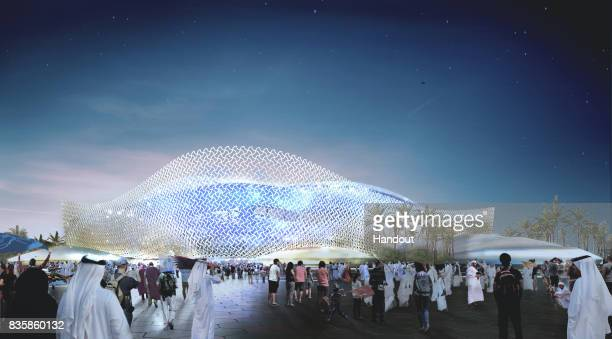 In this undated computergenerated artists impression provided by 2022 Supreme Committee for Delivery and Legacy the Al Rayyan Stadium a Qatar 2022...