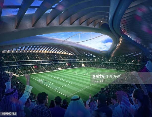 In this undated computergenerated artists impression provided by 2022 Supreme Committee for Delivery and Legacy the Al Wakrah stadium a Qatar 2022...