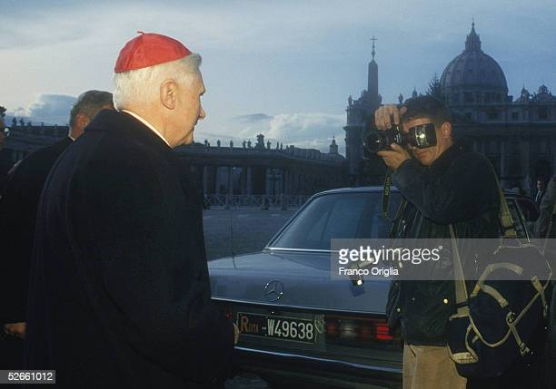 In this undated file photo the new Pope Benendict XVI is photographed when he was Cardinal Joseph Ratzinger in the Vatican Ratzinger was elected Pope...