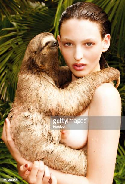 In this undated handout image provided by Pirelli model Georgina Stojiljkovic poses for the new 2010 Pirelli calendar which is launched on November...