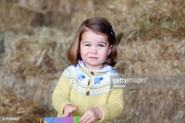In this undated handout image released by the Duke and Duchess of Cambridge Princess Charlotte is pictured at home in April in Norfolk England The...