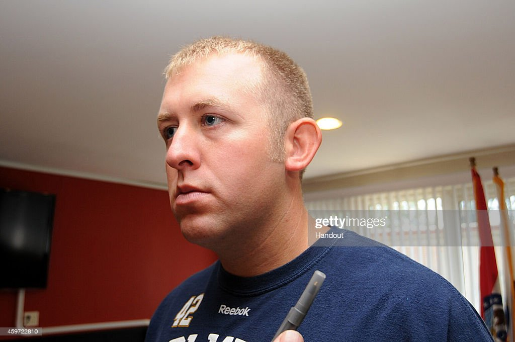 In this undated handout photo provided by the St. Louis County Prosecutor's Office, Ferguson police officer <a gi-track='captionPersonalityLinkClicked' href=/galleries/search?phrase=Darren+Wilson+-+Police+Officer&family=editorial&specificpeople=13495859 ng-click='$event.stopPropagation()'>Darren Wilson</a> is seen in Ferguson, Missouri. Police officer <a gi-track='captionPersonalityLinkClicked' href=/galleries/search?phrase=Darren+Wilson+-+Police+Officer&family=editorial&specificpeople=13495859 ng-click='$event.stopPropagation()'>Darren Wilson</a> shot 18-year-old Michael Brown on August 9th, 2014. A St. Louis County 12 member grand jury who reviewed evidence related to the shooting decided not to indict Wilson on charges, sparking large ongoing protests.