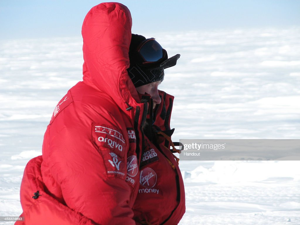NOVO, ANTARCTICA - In this undated handout photo provided by Walking with the Wounded (WWTW) on December 3, 2013, Prince Harry of Team UK looks on at the start line in Antarctica on day one of the South Pole Allied Challenge. The Virgin Money South Pole Allied Challenge 2013, of which Harry is patron, will see the participants race across three degrees to the South Pole. All 12 injured service personnel from Britain, America, Canada and Australia have overcome life-changing injuries and undertaken challenging training programmes to prepare themselves for the conditions they will face in Antarctica. Trekking around 15km to 20km per day, the teams will endure temperatures as low as minus 45C and 50mph winds as they pull their 70kg sleds to the south pole.