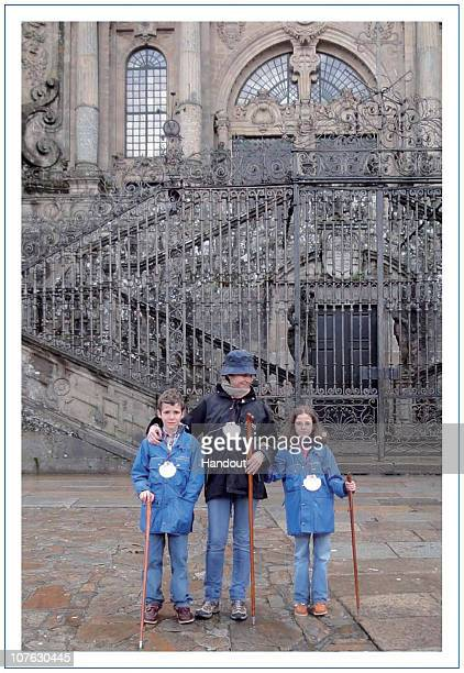 In this undated handout photo provided on December 16 2010 by the Spanish Royal House Felipe Juan Froilan Princess Elena and Victoria Federica pose...