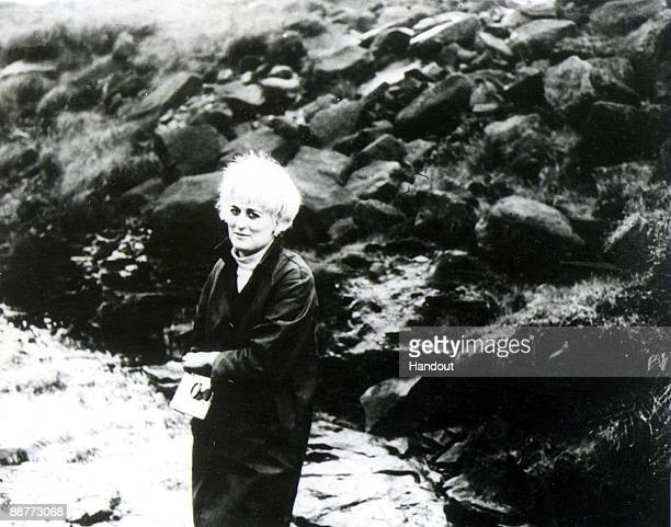 In this undated handout photo supplied by the Greater Manchester Police on July 1 Myra Hindley is seen photographed by Ian Brady at an unknown...