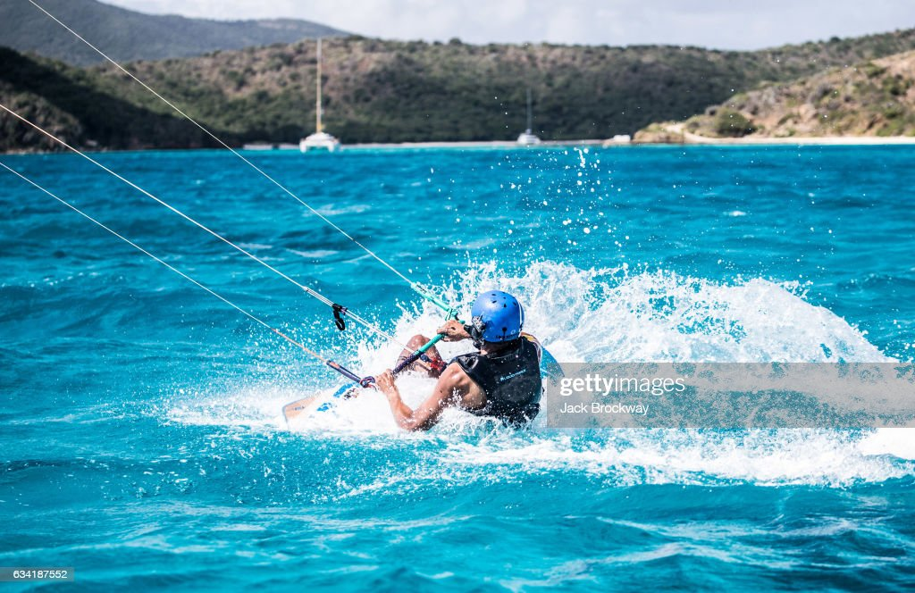 In this undated image former President Barack Obama kitesurfs at Richard Branson's Necker Island retreat on February 1, 2017 in the British Virgin Islands. Former President Obama and his wife Michelle have been on an extended vacation since leaving office on January 20.