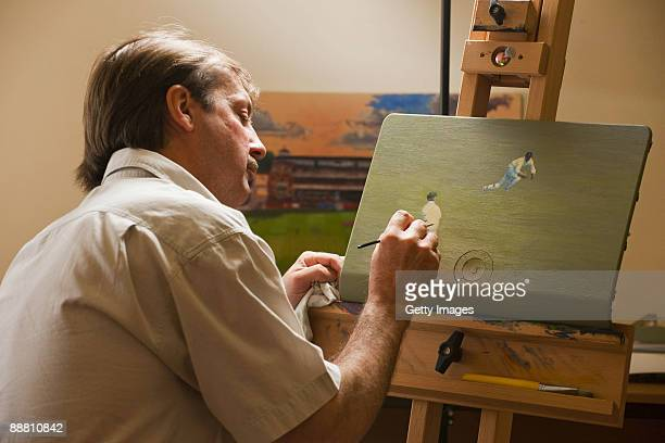 In this undated image released by BSkyB on July 3 painter and former cricketer Jack Russell is pictured at work as BSkyB launch the exclusive SkyHD...