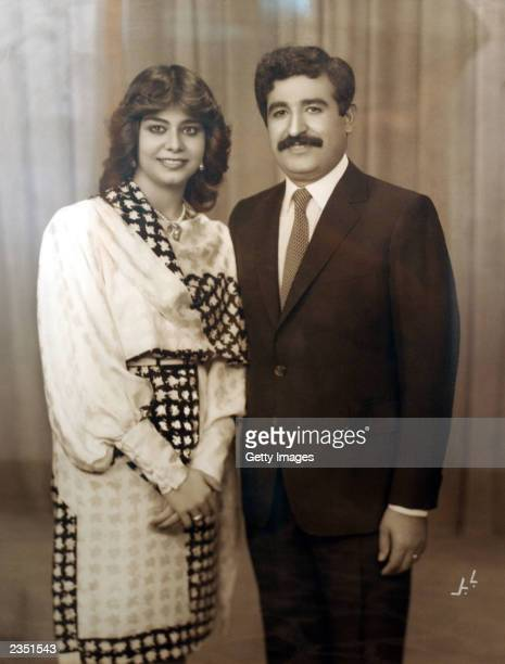 In this undated photo Saddam Hussein's daughter Ragad poses with her husband Hussain Kamel Kamel was killed in 1996 Raghad Saddam Hussein and Rana...