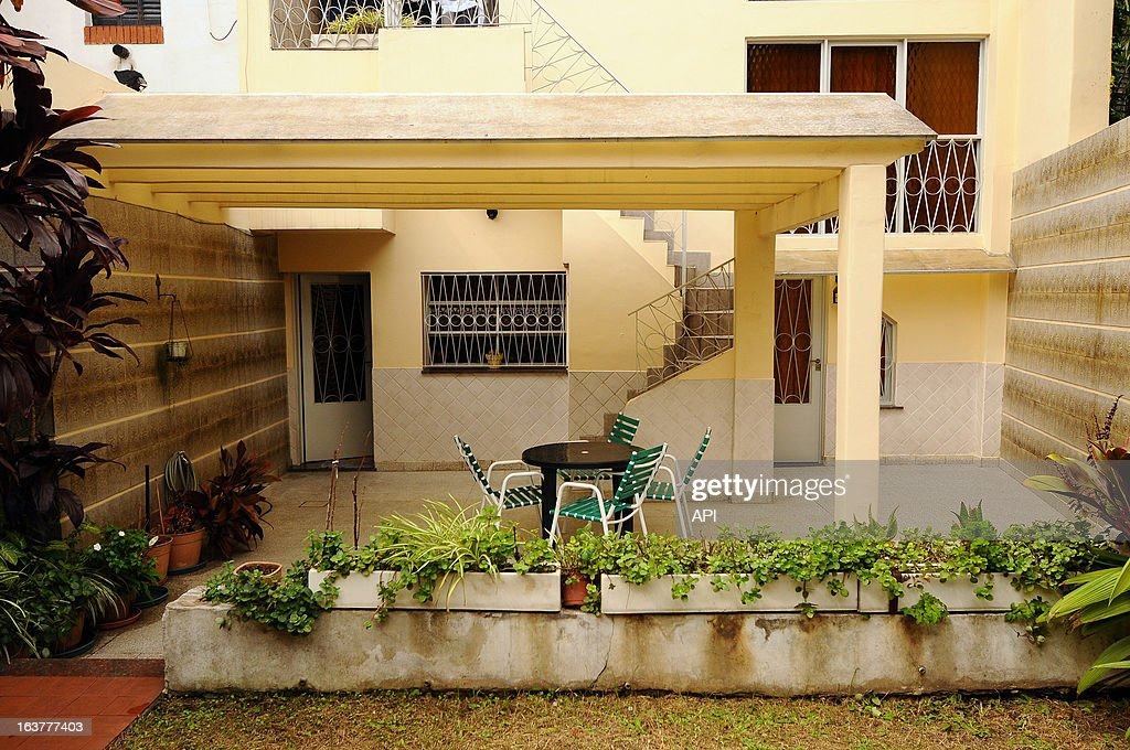 In this undated photo, the back garden patio of Cardinal Jorge Mario Bergoglio's childhood home in Membrillar 531 in the Flores Quarter.