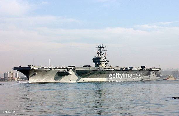 In this US Navy handout photo the USS Carl Vinson puts to sea on November 7 2002 in San Diego California Media reports indicate that the USS Carl...