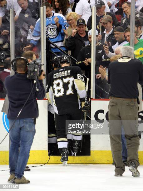 In what is the final game ever played at Mellon Arena Sidney Crosby of the Pittsburgh Penguins is the last player on the Pittsburgh Penguins to step...