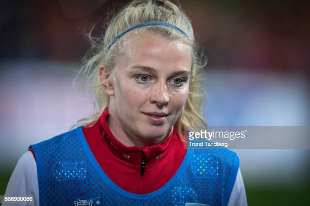 Ina Gausdal of Norway during the FIFA 2018 World Cup Qualifier between Netherland and Norway at Noordlease Stadion on October 24 2017 in Groningen
