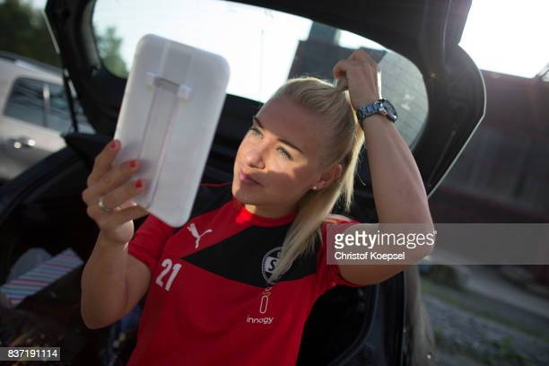 Ina Lehmann A general view behind the scenes of the Allianz Frauen Bundesliga Club Tour of SGS Essen at Zeche Zollverein on August 22 2017 in Essen...
