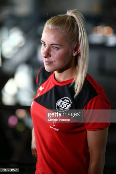 Ina Lehmann during a general view behind the scenes of the Allianz Frauen Bundesliga Club Tour of of SGS Essen at Zeche Zollverein on August 22 2017...