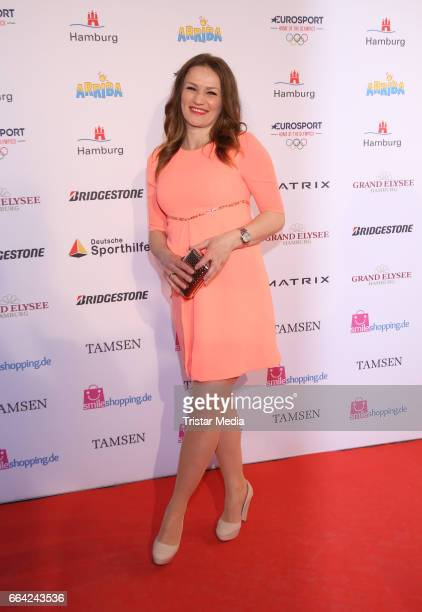 Ina Menzer attends the German Sports Journalism Award 2017 at Grand Elysee Hotel on April 03 2017 in Hamburg Germany