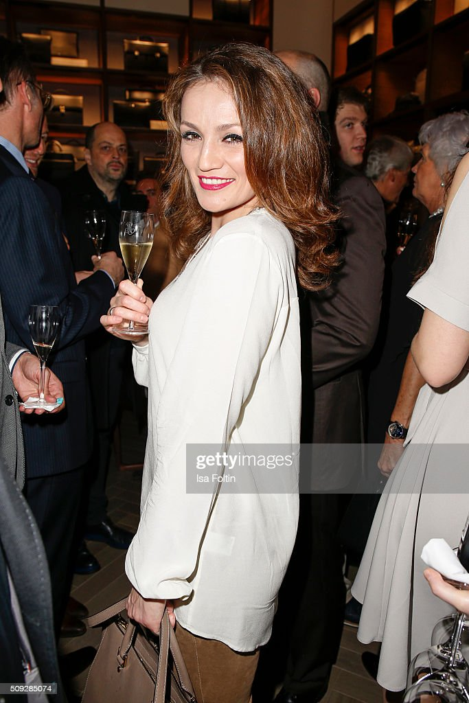 Ina Menzer attends the Montblanc House Opening on February 09, 2016 in Hamburg, Germany.