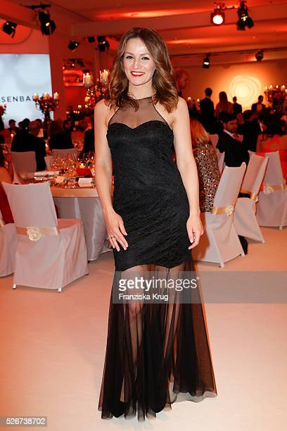 Ina Menzer attends the Rosenball 2016 on April 30 in Berlin Germany