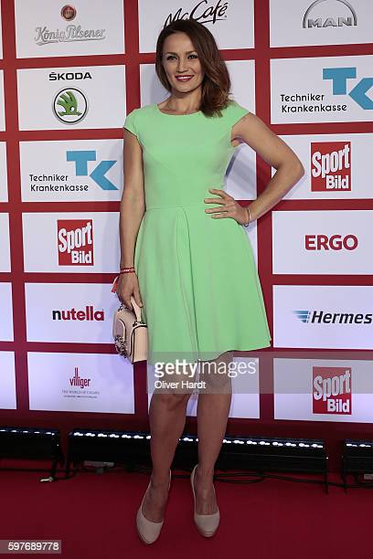 Ina Menzer poses for a picture at the Sport Bild Award 2016 at Fischauktionshalle on August 29 2016 in Hamburg Germany