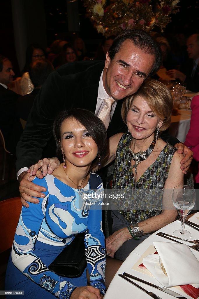 Ina Mirko, Ksenia Kogan and Hedva Ser attend the Placido Domingo Named Goodwill Ambassador Of Unesco ceremony and dinner at UNESCO on November 21, 2012 in Paris, France.