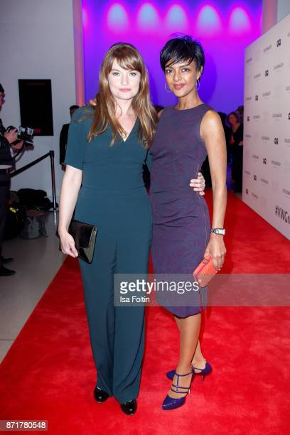 Ina Paule Klink and Dennenesch Zoude attend the Volkswagen Dinner Night prior to the GQ Men of the Year Award 2017 on November 8 2017 in Berlin...