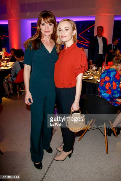 Ina Paule Klink and Friederike Kempter attend the Volkswagen Dinner Night prior to the GQ Men of the Year Award 2017 on November 8 2017 in Berlin...