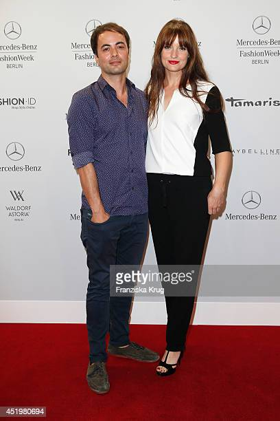 Ina Paule Klink and Nicolai Kinski attend the Laurel show during the MercedesBenz Fashion Week Spring/Summer 2015 at Erika Hess Eisstadion on July 10...