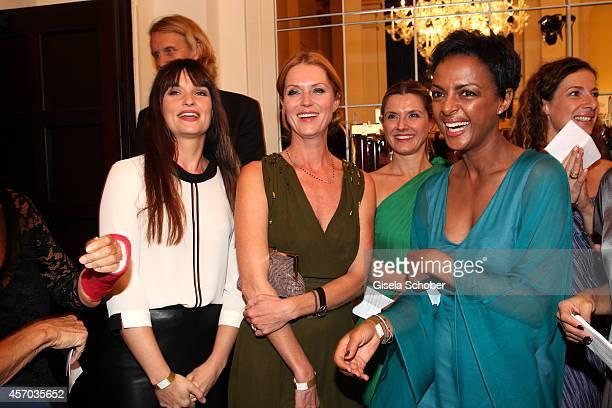 Ina Paule Klink Esther Schweins Dennenesch Zoude attend the Hessian Film And Cinema Award 2014 on October 10 2014 at Alte Oper in Frankfurt am Main...