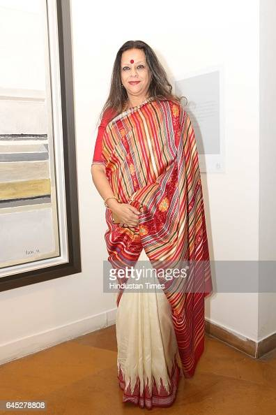 Ina Puri during the 95th birth anniversary of late artist SH Raza at Visual Art Gallery IHC on February 22 2017 in New Delhi India Raza who passed...