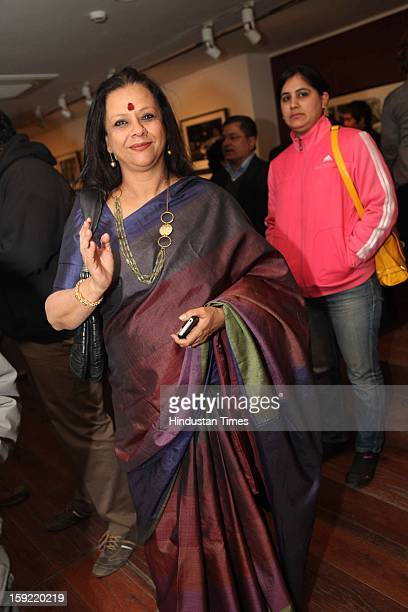 Ina Puri during the Photo exhibition titled Nemai Ghosh Satyajit Ray and Beyond at Delhi Art Gallery Hauz Khas Village on January 7 2013 in New Delhi...