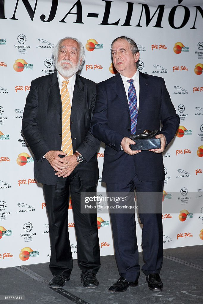 Inaki Anasagasti (R) attends 'Orange And Lemon' Awards ceremony at Sheraton Mirasierra Hotel on April 29, 2013 in Madrid, Spain.
