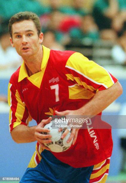 Inaki Urdangarin of Spain in action during the World Men's Handball Championship Group C match between Spain and Tunisia at Yamaga City Gymnasium on...