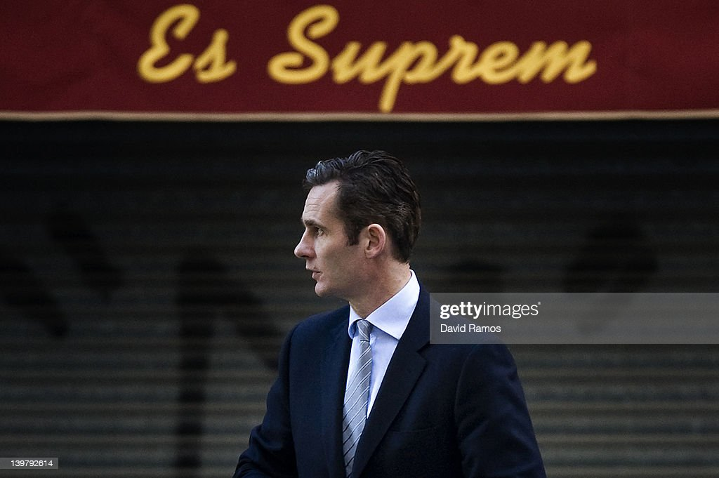 <a gi-track='captionPersonalityLinkClicked' href=/galleries/search?phrase=Inaki+Urdangarin&family=editorial&specificpeople=159330 ng-click='$event.stopPropagation()'>Inaki Urdangarin</a>, Princess Cristina husband, arrives at the courthouse of Palma de Mallorca to give evidence during the during the 'Palma Arena trial' on February 25, 2012 in Palma de Mallorca, Spain. The son-in-law of King Juan Carlos of Spain, <a gi-track='captionPersonalityLinkClicked' href=/galleries/search?phrase=Inaki+Urdangarin&family=editorial&specificpeople=159330 ng-click='$event.stopPropagation()'>Inaki Urdangarin</a>, Duke of Palma will testify in court over allegations that he misused millions of euros of public funds, allocated to organise sports and tourism events, during his time a chairman of a non-profit foundation from 2004 to 2006. Public prosecutors suspect the non-profit foundation named 'Instituo Noos', headed by Urdangarin, of siphoning away funds from public contracts awarded to companies run by Urdangarin and his business partners.
