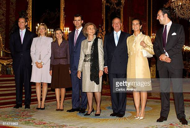 Inaki Urdangarin Princess Cristina Princess Letizia Crown Prince Felipe Queen Sofia King Juan Carlos Princess Elena and Jaime Marichalar of the...