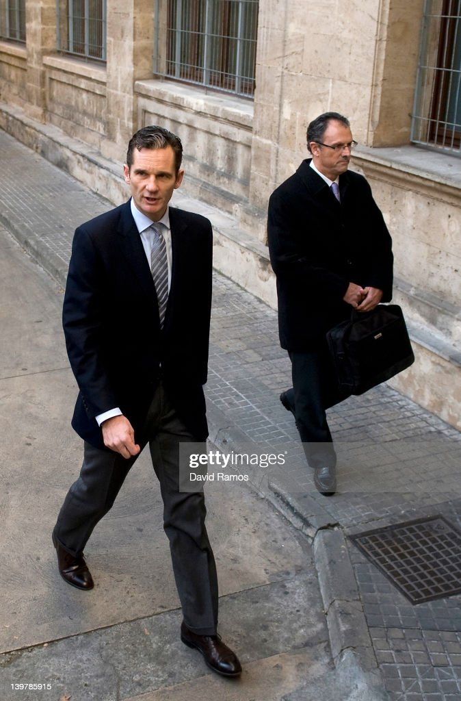<a gi-track='captionPersonalityLinkClicked' href=/galleries/search?phrase=Inaki+Urdangarin&family=editorial&specificpeople=159330 ng-click='$event.stopPropagation()'>Inaki Urdangarin</a>, the husband of Princess Cristina (L), and his lawyer Mario Pascual Vives arrive at the courthouse of Palma de Mallorca to give evidence during the 'Palma Arena trial' on February 25, 2012 in Palma de Mallorca, Spain. The son-in-law of King Juan Carlos of Spain, <a gi-track='captionPersonalityLinkClicked' href=/galleries/search?phrase=Inaki+Urdangarin&family=editorial&specificpeople=159330 ng-click='$event.stopPropagation()'>Inaki Urdangarin</a>, Duke of Palma will testify in court over allegations that he misused millions of euros of public funds, allocated to organise sports and tourism events, during his time a chairman of a non-profit foundation from 2004 to 2006. Public prosecutors suspect the non-profit foundation named 'Instituo Noos', headed by Urdangarin, of siphoning away funds from public contracts awarded to companies run by Urdangarin and his business partners.