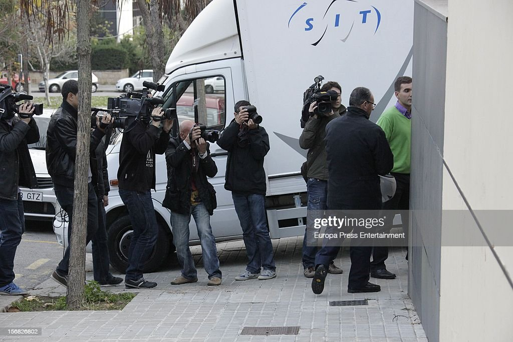 Inaki Urdangarin's lawyer Mario Pascual Vives is seen at <a gi-track='captionPersonalityLinkClicked' href=/galleries/search?phrase=Princess+Cristina+of+Spain&family=editorial&specificpeople=160232 ng-click='$event.stopPropagation()'>Princess Cristina of Spain</a> and Inaki Urdangarin's house on November 21, 2012 in Barcelona, Spain. Dukes of Palma are moving to get settled in a modest house after the anti-corruption prosecutor Pedro Horrach asked a bond of 8 million euros for the corruption case 'Caso Noos'.