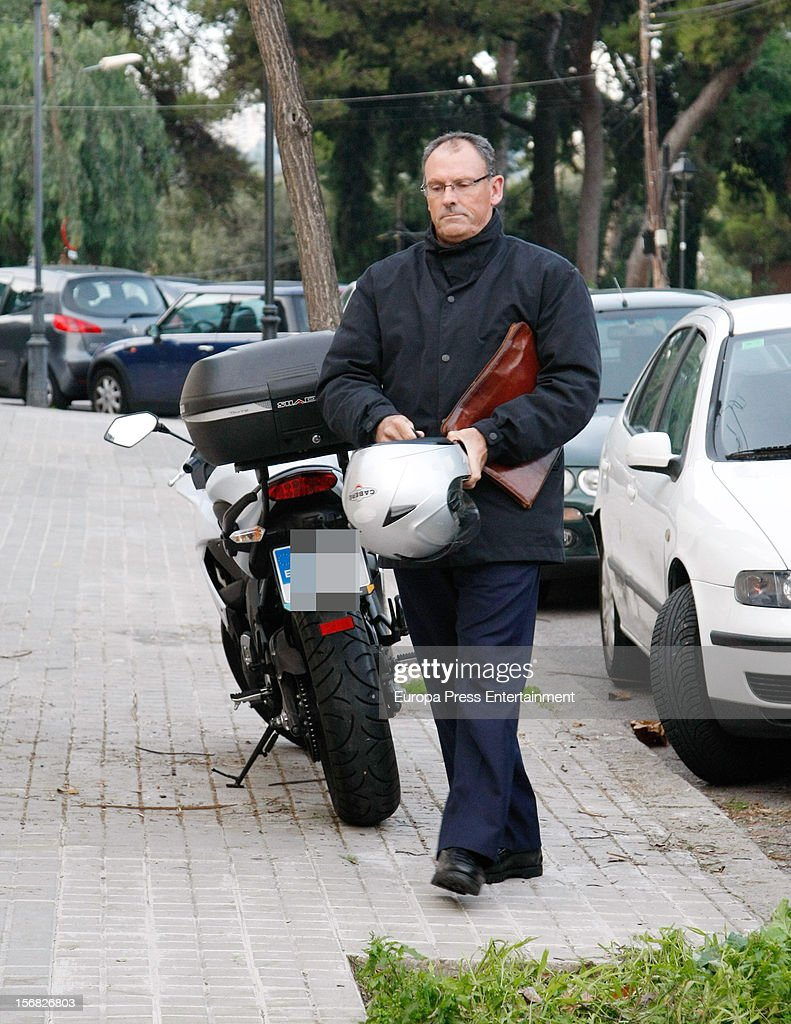 Inaki Urdangarin's lawyer Mario Pascual Vives is seen at Princess Cristina of Spain and Inaki Urdangarin's house on November 21, 2012 in Barcelona, Spain. Dukes of Palma are moving to get settled in a modest house after the anti-corruption prosecutor Pedro Horrach asked a bond of 8 million euros for the corruption case 'Caso Noos'.