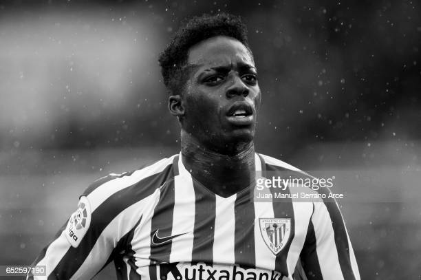 This image has been converted to black and white Inaki Willams of Athletic Club Bilbao reacts during the La Liga match between Real Sociedad de...