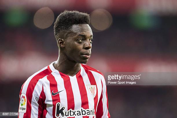 Inaki Williams Arthuer of Athletic Club looks on during their Copa del Rey Round of 16 first leg match between Athletic Club and FC Barcelona at San...