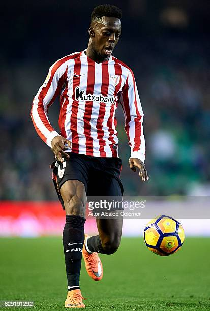 Inaki Williams of Athletic Club in action during La Liga match between Real Betis Balompie vs Athletic Club at Benito Villamarin Stadium on December...